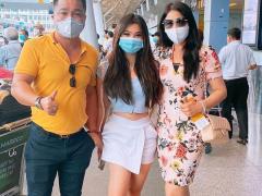 Lý Hùng ra đón Lý Hương và cháu gái sau 14 ngày cách ly ở Hải Dương