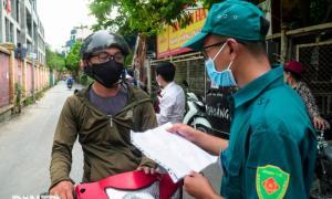 Hà Nội lập nhiều chốt chặn người dân không có lý do đi vào nội đô
