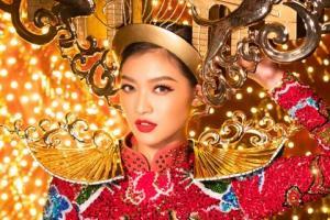 """""""Mãn nhãn"""" ngắm Á hậu Kiều Loan mặc trang phục dân tộc lấp lánh thiMiss Grand"""